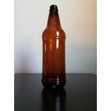 Amber PET botlle - 1000ml with cap